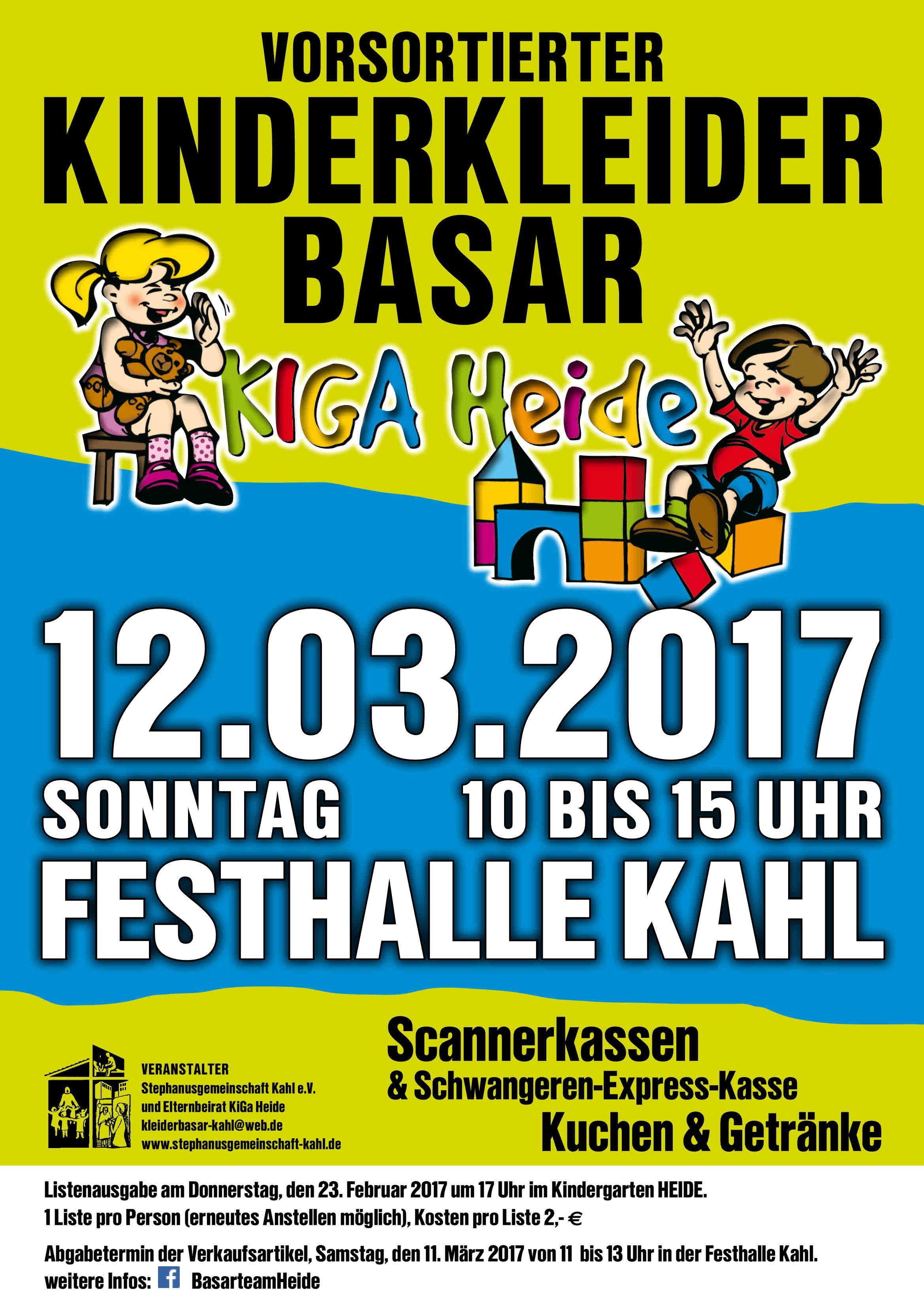 Basar Plakat A3-Frühling 2017