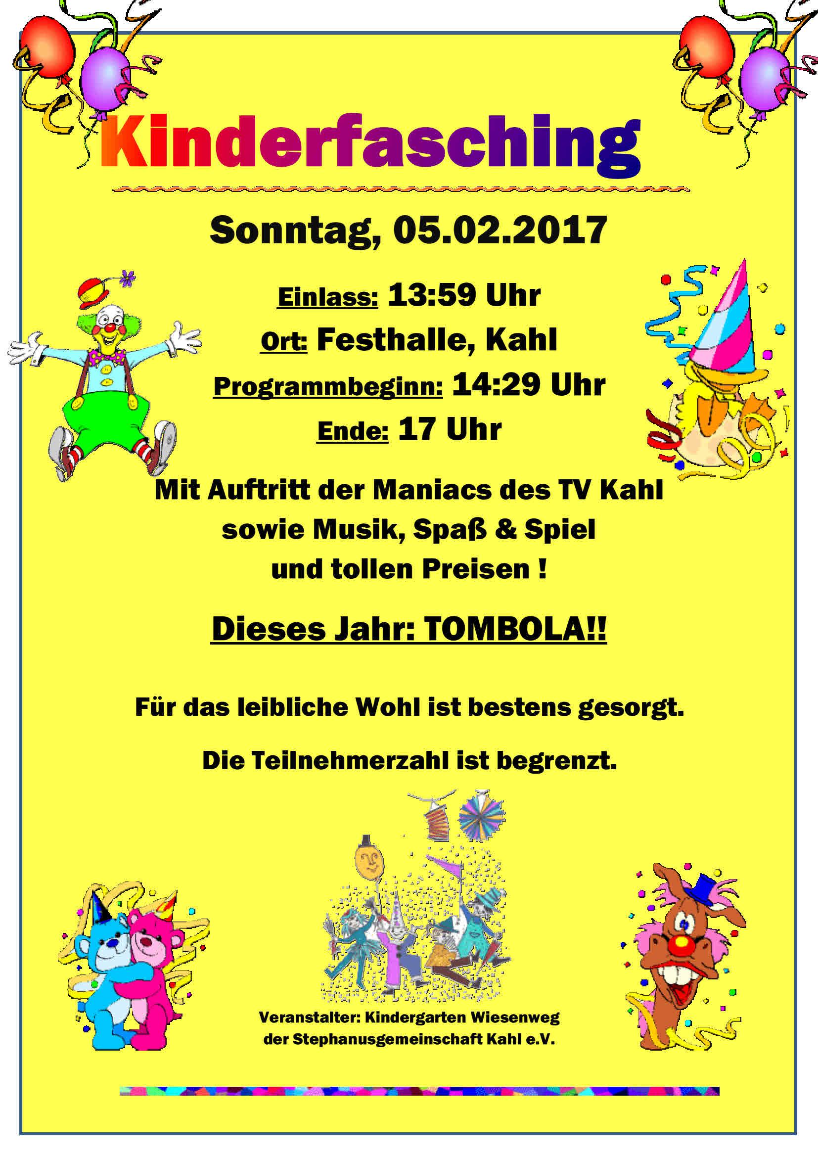 Kinderfasching 2017 plakat