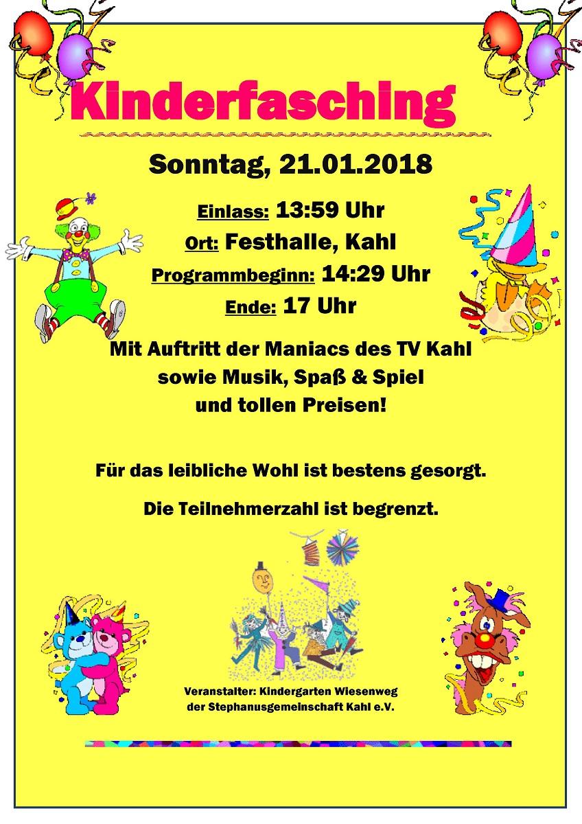 Kinderfasching 2018 plakat