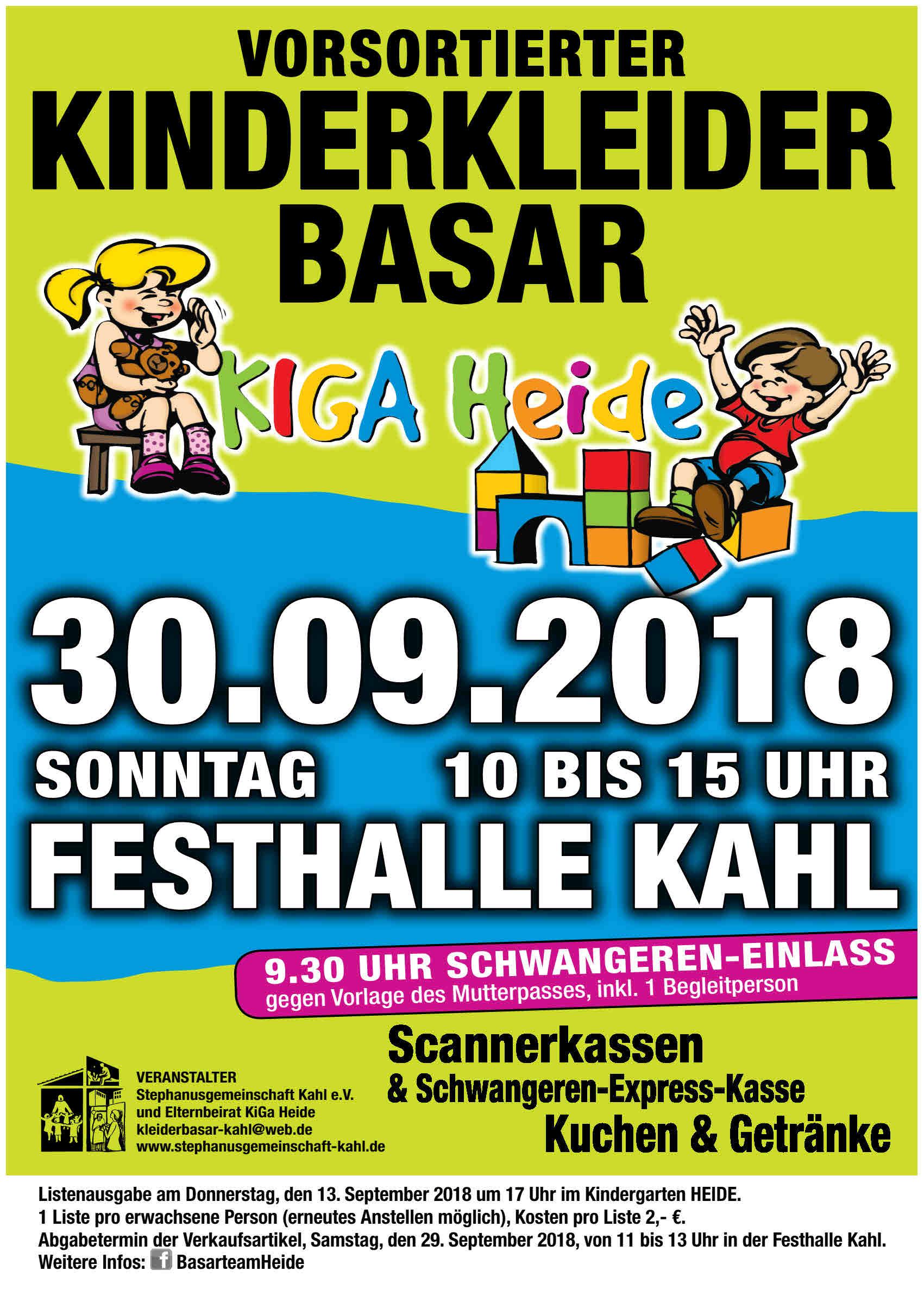 Basar Plakat A4 Herbst 2018