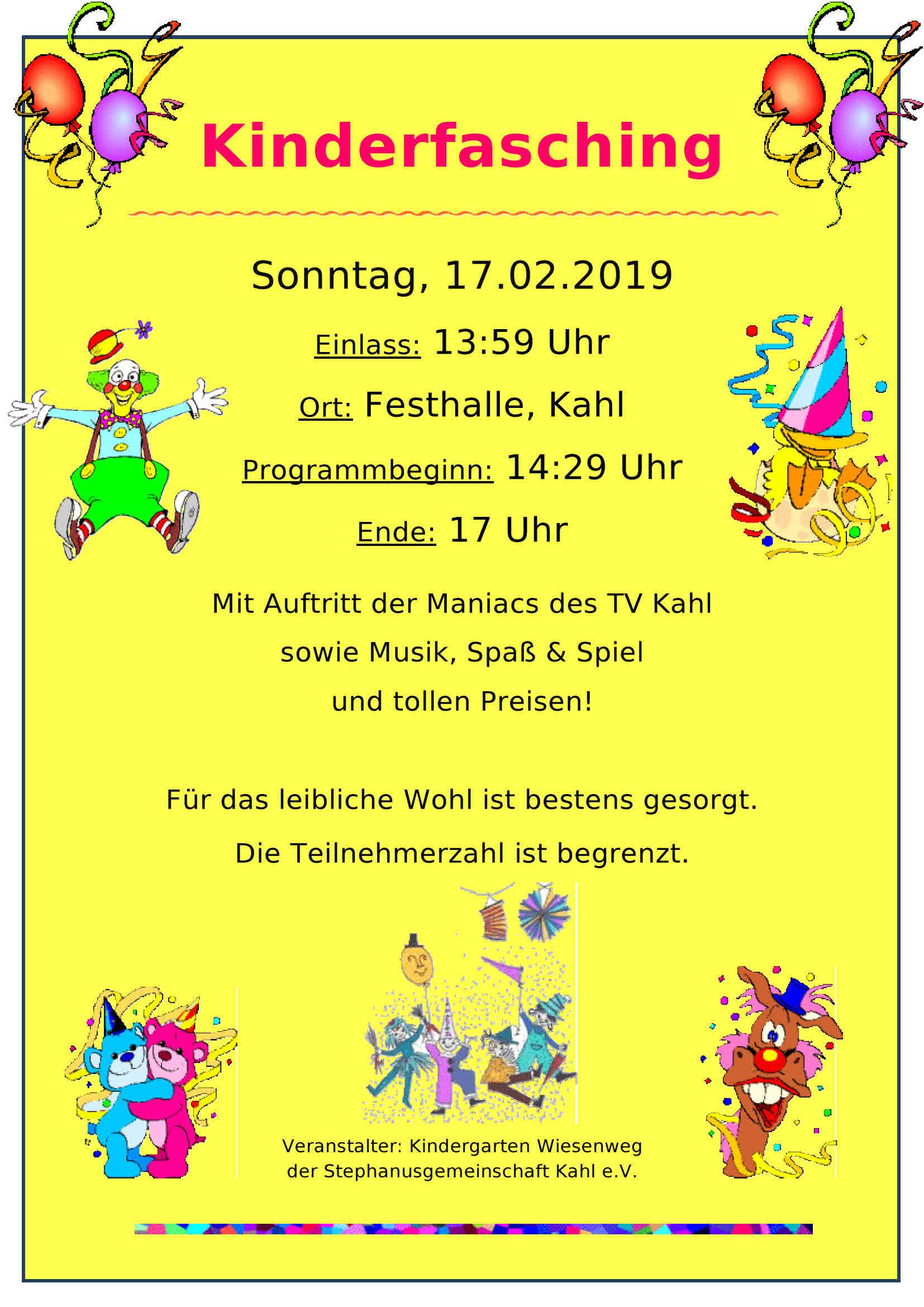 Kinderfasching_2019_plakat